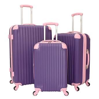 3 Piece Luggage Set II Color: Purple