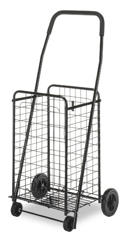 Whitmor Black Rolling Grocery Cart