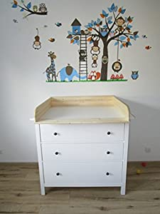 wickelaufsatz 13 cm hoch f r ikea hemnes kommode amazon. Black Bedroom Furniture Sets. Home Design Ideas