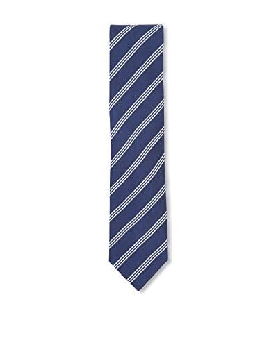 Ermenegildo Zegna Men's Diagonal Striped Silk Tie, Blue