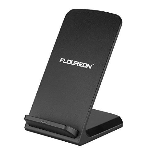 Floureon QI急速ワイヤレス充電器 スタンド型 QI対応 3つのコイル搭載 急速充電でき 無接点充電 日本語PDF説明書対応Samsung Galaxy S6 S5 S4 S3 Note4 Note3 Note2 Google Nexus7/6/5SHARP,富士通,Panasonic,Motorola,NokiaなどのQI対応機種
