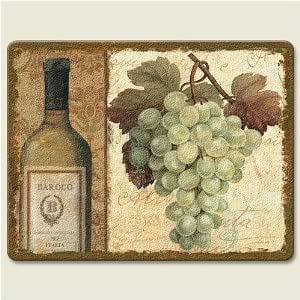 Vineyard Grapes Chateau Tempered Glass Small