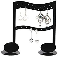 Music Note Earring Rack Display - Black Jewelry Display