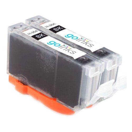 2x Kompatibel Photo Schwarz HP 364 XL (HP364PBK) Drucker Tintenpatrone für HP Photosmart 7510, 7510, B8553, C5380, C5383, C5390, C6300, C6380, D5460, D7560, C309, C309g, C309h, C309n, C310, C310a, C309a, C309c, C410b