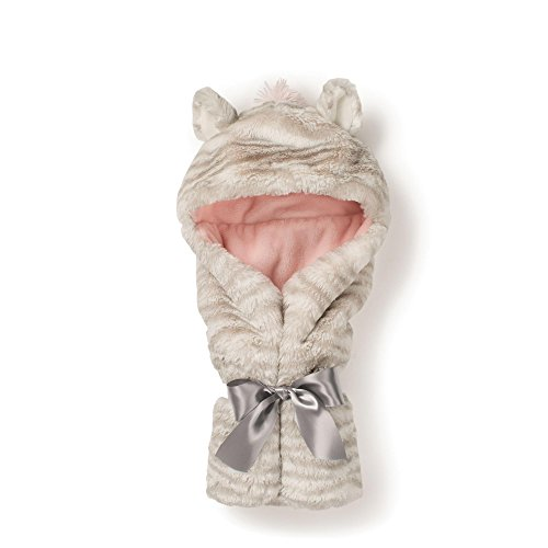Nat and Jules Zebra Hooded Blanket, Pink