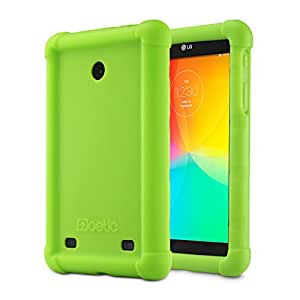 LG G Pad 7.0 Case - Poetic LG G Pad 7.0 Case [Turtle Skin Series] - [Corner/Bumper Protection] [Grip] [Sound-Amplification] Protective Silicone Case for LG G Pad 7.0 Green
