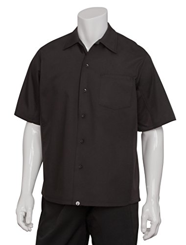 Chef Works CSCV-BLK Cool Vent Cook Shirts, Black, Medium (Chefs Work Shirt compare prices)
