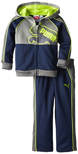 PUMA Little Boys' PUMA Pop Cat Poly Fleece Set-1, Peacoat, 4T