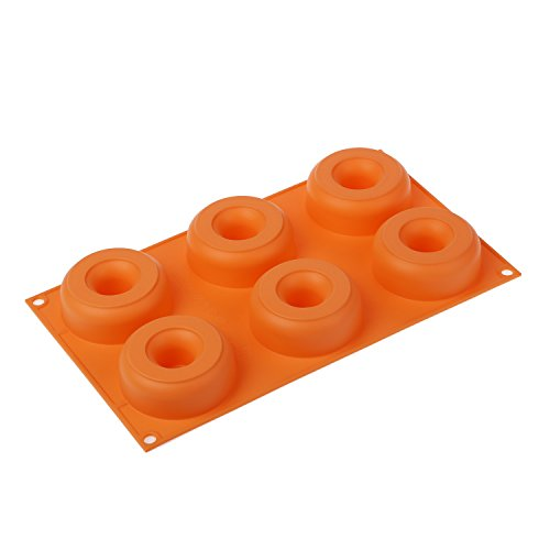 STAMPO IN SILICONE N.6 DONUTS ø75/25 H28 MM ARANCIO IN GIFT BOX