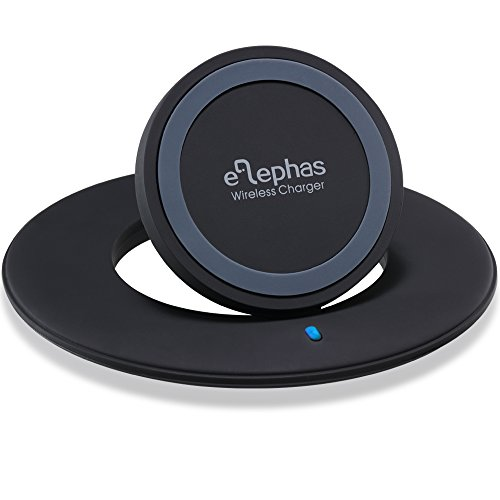 Wireless Charger Pad, ELEPHAS Foldable Wireless Charging Stand for Samsung Galaxy S7 Edge/ S7/ Note 5 / S6 / S6 Edge / S6 Edge Plus, Nexus, LG, Moto, Lumia and other Qi-enabled Devices--Black (Wireless Gear Portable Charger compare prices)