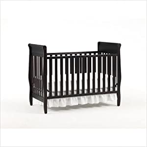 Bundle-95 Sarah Classic 4-in-1 Convertible Crib in Espresso (2 Pieces)
