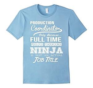 Men's Production Coordinator Job Title T-Shirt Small Baby Blue