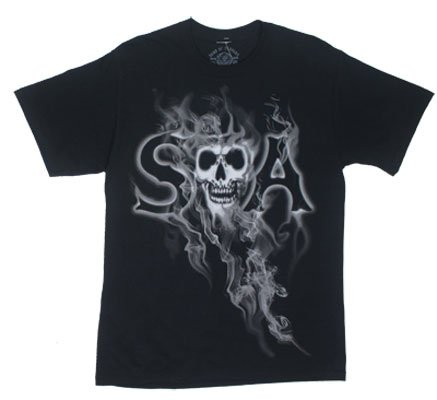 Smoky Reaper - Sons Of Anarchy T-shirt: Adult XL - Black