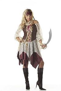 California Costumes Women's South Seas Siren Costume,Brown/Cream,Medium