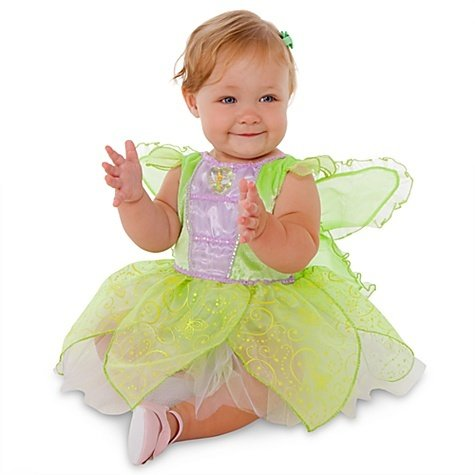 Disney Store Tinkerbell Fairy Halloween Costume Dress Size 3T Glow In The Dark