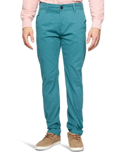 Bellfield MTRS-11178PB2 Slim Men's Trousers Peacock Blue W28 INxL32 IN