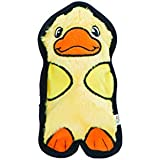 Outward Hound 32011 Invincibles Plush Duck Stuffingless Dog Toys Squeaker Toy 1 Squeaker, Small, Yellow