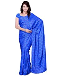 Diva Fashion Jacquard Saree With Paisley Motifs Blue Saree