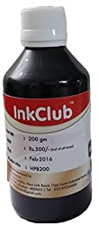 Inkclub 200ml Compatible Hp Black Ink (pigmented)
