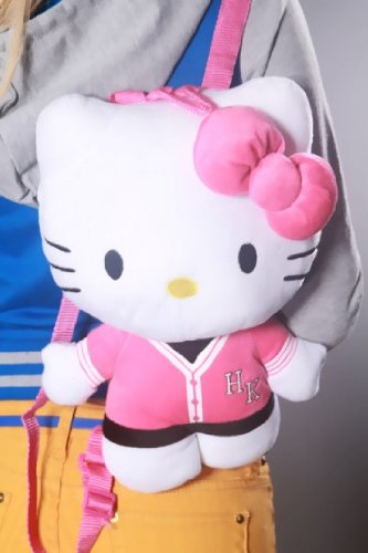 Hello Kitty Varsity Jersey Plush Backpack - 1
