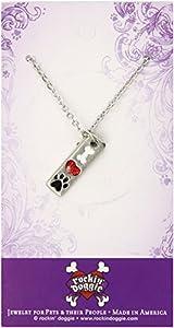 Rockin' Doggie Pewter Paw Necklace, Bone/Heart/I Love My Dog