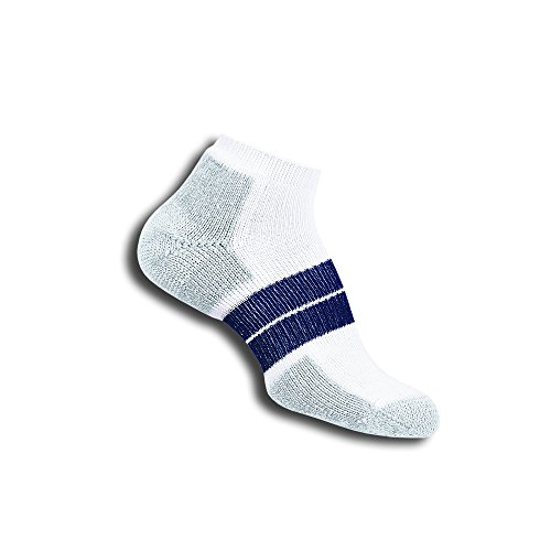 Thorlo Men's 84N Sock, White/Navy, Large
