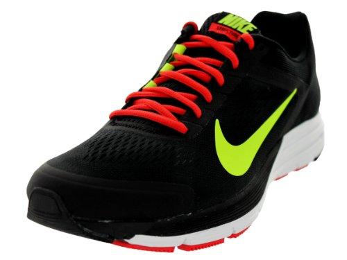 Nike Men'S Zoom Structure+ 17 Black/Volt/Lt Crimson/White Running Shoe 11.5 Men Us