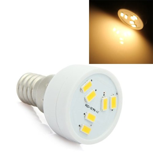 TOOGOO(R) E14 2W 6 LED 5630 SMD Lampe Strahler Leuchte Spot Beleuchtung 160LM Warmweiss