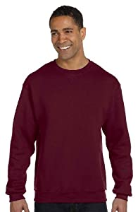 Russell Athletic Men's Dri-Power Fleece Crew, Maroon, Large