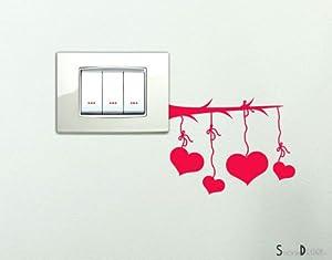 Adesivi per interruttore spine placche adesivo cuori for Placche decorative per interni
