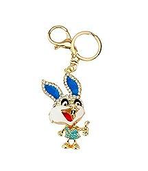 Knighthood Blue Bunny Rabbit Hand Bag Charm Keychain (Charm Key Ring & Key Chain)for Girls