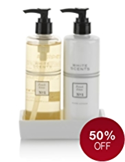 White Scents French Linen Hand Care Duo