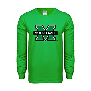 Marshall Kelly Green Long Sleeve T-Shirt, X-Large, Volleyball