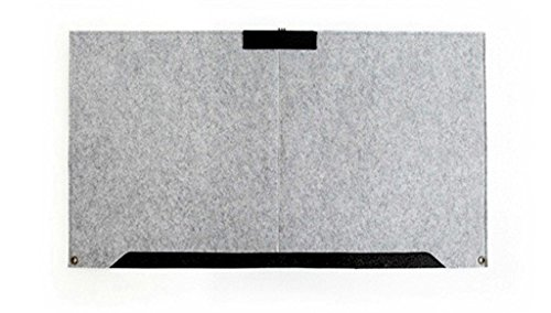 PINDIA Light Grey Large Fashion Durable Desk Mat Modern Table Felt Office Desk Mat Mouse Pad Mat Pen Holder For Computer Laptop