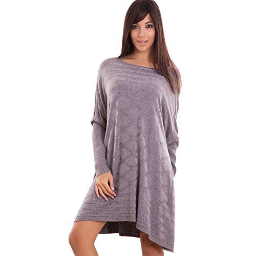 toocool-vestito-donna-mini-abito-maxi-pullover-ampio-maglione-manica-lunga-nuovo-cj-2355-taglia-unic