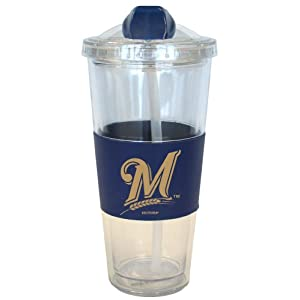 Milwaukee Brewers No Spill Straw Tumbler