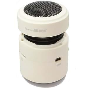 NANOBEAT Transférable 10 Watts Vibration Expansion Parleur Système Blanc