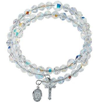 Crystal Wrap Rosary Bracelet MADE WITH SWAROVSKI ELEMENTS