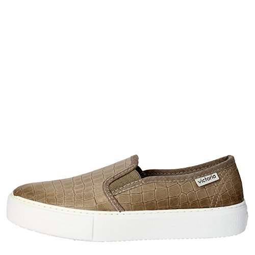 Victoria 25021 Slip-on Donna Pelle Taupe Taupe 35