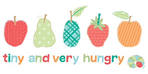 Marmont Hill Eric Carle's The Very Hungry Caterpillar Tiny and The Very Hungry Canvas Wall Art, 24 by 12-Inch