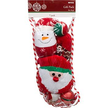 PETCO Holiday Dog Toy Medium Stocking Gift Pack