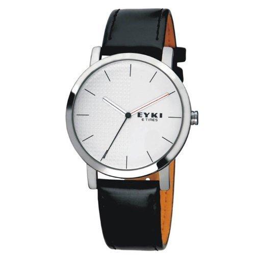 Generic Man's Vintage PU Leather Band Quartz Wrist Watch Color White