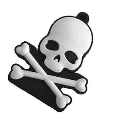 USB Skull 4GB - Memory stick/drive for XP/Vista/Windows 7/Mac (4GB WHITE) by EASYWORLD