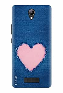 Noise Designer Printed Case / Cover for Lyf Wind 3 / Vintage / Heart In Blue Design