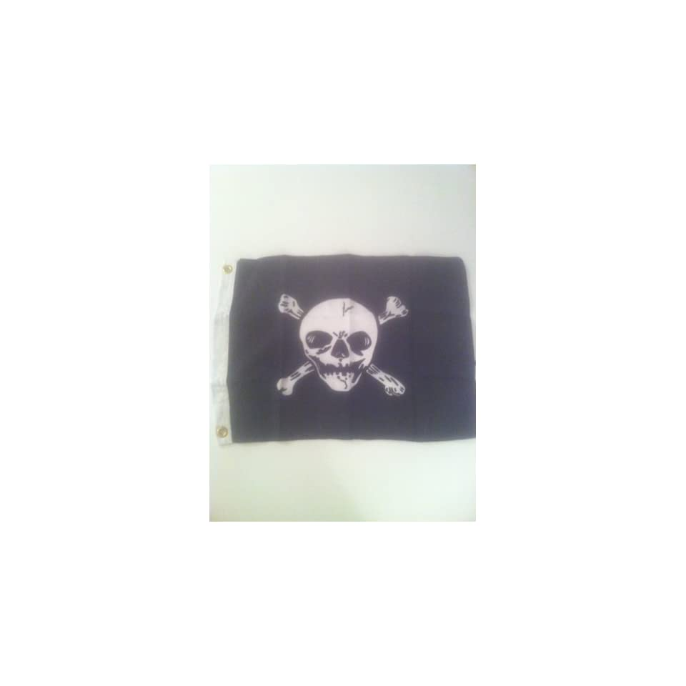 Jolly Roger Pirate Flag Polyester 12 In. X 18 In