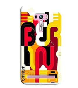 Omnam Feryu Printed Designer Back Cover Case For Asus Zenfone Selfie