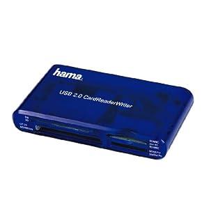 Hama Kartenleser 35-in-1 (u.a. SD/SDHC, CF Typ I / II, MMC, USB 2.0) blau