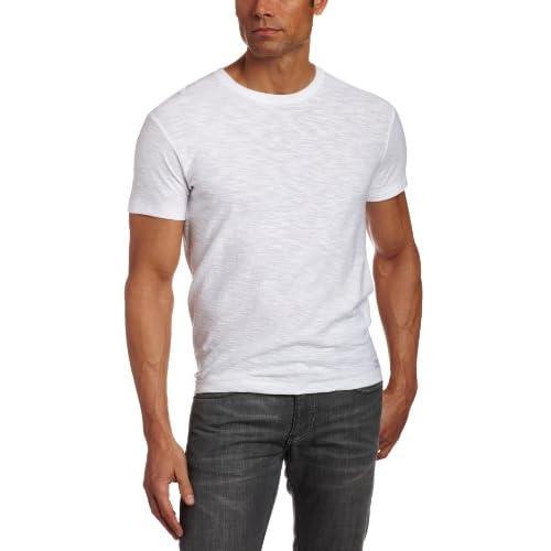 CALVIN KLEIN(カルバンクライン)スラブ Vネック半袖 Tシャツ (並行輸入品) (M, ホワイト)