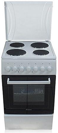 Candy CCE 5503 W cuisinière - fours et cuisinières (Autonome, Noir, Blanc, Electrique, Plaque étanche, conventionnel, Grill, réchauffer, A)