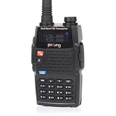 PoFung BF-F9+ Two-Way Radio, Dual Band UHF/VHF Ham 136-174/400-520MHz, Earphone Included